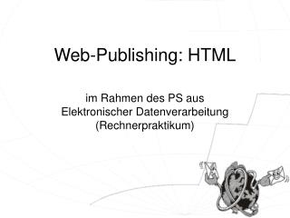 Web-Publishing: HTML