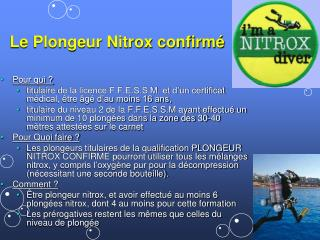 Le Plongeur Nitrox confirm