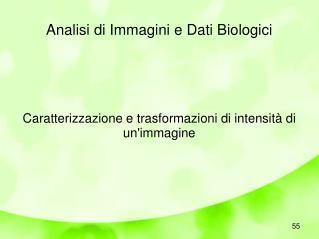 Analisi di Immagini e Dati Biologici