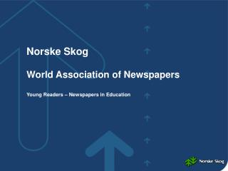 Norske Skog World Association of Newspapers Young Readers – Newspapers in Education