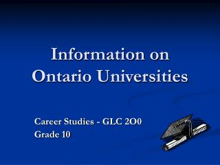 Information on Ontario Universities