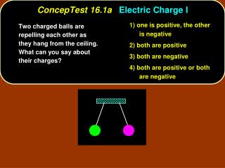 ConcepTest 16.1a Electric Charge I