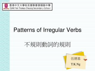 Patterns of Irregular Verbs