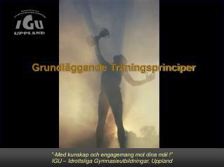 """""""-Med kunskap och engagemang mot dina mål !"""" IGU – Idrottslig utbildning för Gymnasiet, Uppsala"""