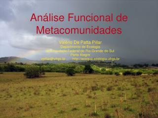 Análise Funcional de Metacomunidades