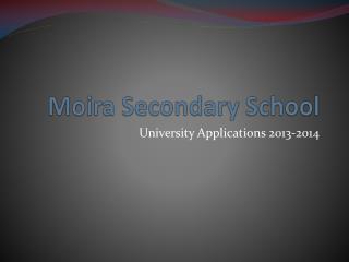 Moira Secondary School