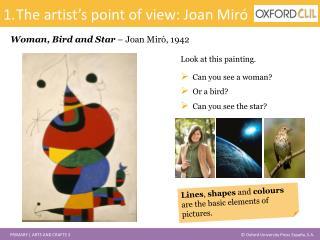 Woman, Bird and Star – Joan Miró, 1942
