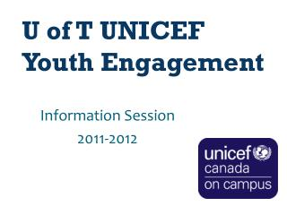 U of T UNICEF Youth Engagement