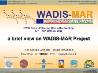 a brief view on WADIS-MAR Project