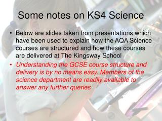 Some notes on KS4 Science