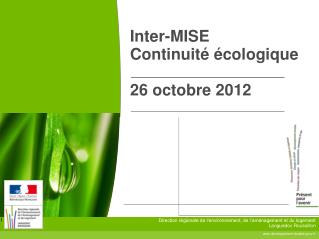 Inter-MISE Continuit� �cologique 26 octobre 2012