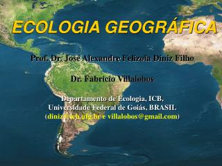 ECOLOGIA GEOGRÁFICA