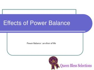 Effects of Power Balance