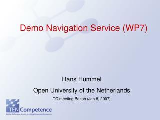 Demo Navigation Service (WP7)