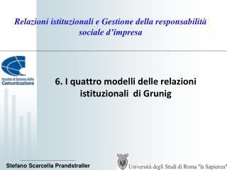 Relazioni istituzionali e Gestione della responsabilit� sociale d�impresa