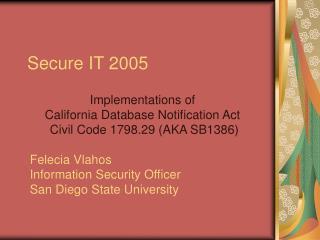 Secure IT 2005