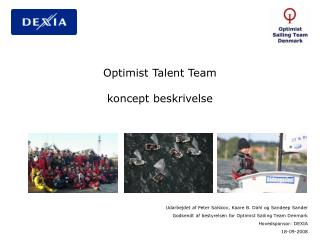 Optimist Talent Team  koncept beskrivelse