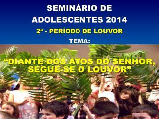 SEMINÁRIO DE  ADOLESCENTES 2014