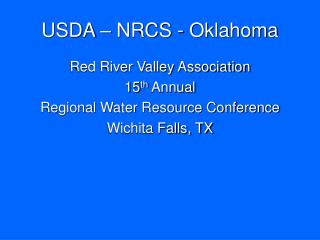 USDA   NRCS - Oklahoma