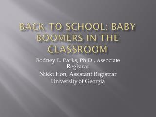 Back to School: Baby Boomers in the Classroom