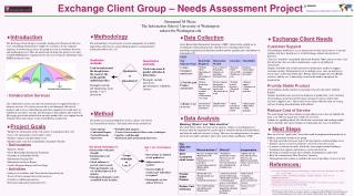 Exchange Client Group � Needs Assessment Project