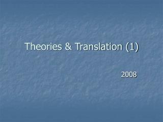 Theories & Translation (1)