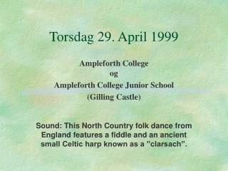 Torsdag 29. April 1999
