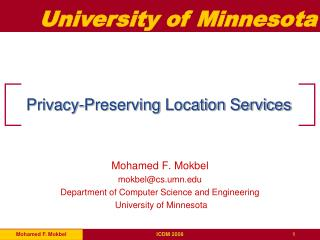 Privacy-Preserving Location Services
