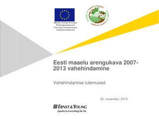 Eesti maaelu arengukava 2007-2013 vahehindamine