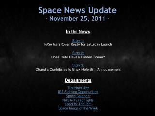 Space News Update - November 25, 2011 -
