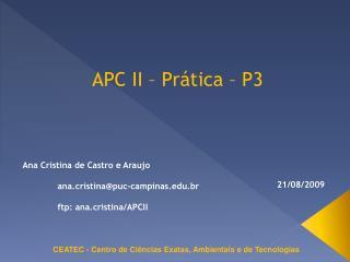 APC II � Pr�tica � P3