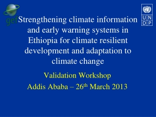 EARLY WARNING ACTIVITIES IN  ETHIOPIAN
