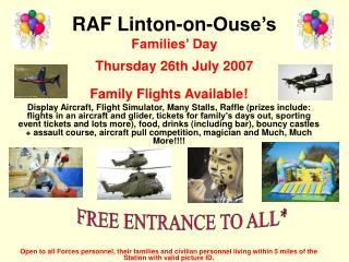 RAF Linton-on-Ouse's Families' Day Thursday 26th July 2007