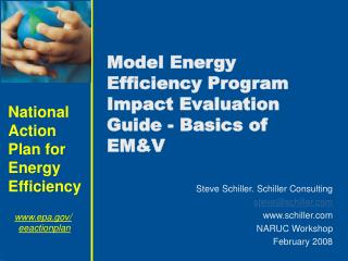 Model Energy Efficiency Program Impact Evaluation Guide - Basics of EMV