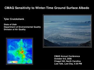 CMAQ Sensitivity to Winter-Time Ground Surface Albedo