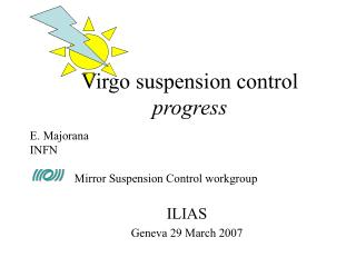 Virgo suspension control  progress