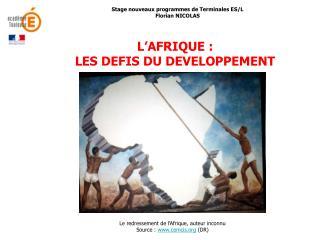 Stage nouveaux programmes de Terminales ES/L Florian NICOLAS