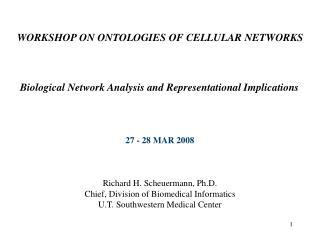 WORKSHOP ON ONTOLOGIES OF CELLULAR NETWORKS