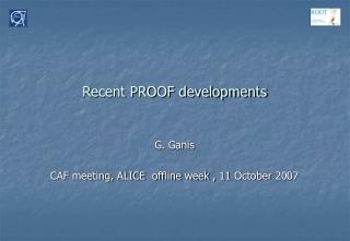 Recent PROOF developments