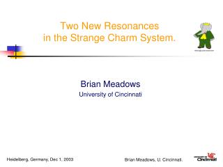 Two New Resonances in the Strange Charm System.