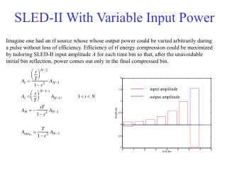 SLED-II With Variable Input Power