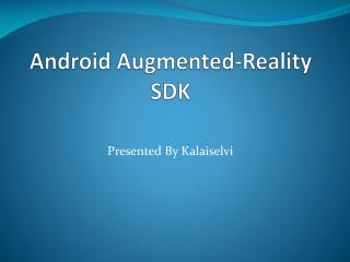 Android Augmented-Reality SDK