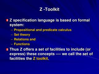 Z -Toolkit