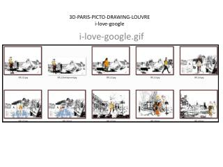 3D-PARIS-PICTO-DRAWING-LOUVRE i-love- google