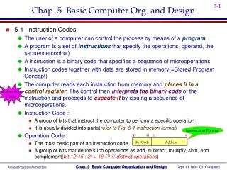 Chap. 5  Basic Computer Org. and Design