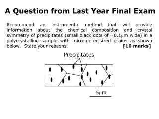 A Question from Last Year Final Exam