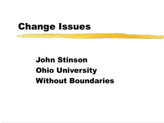 Change Issues