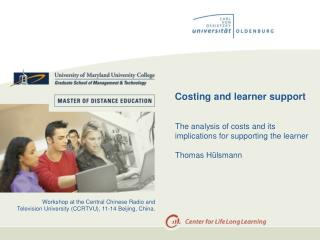 Costing and learner support