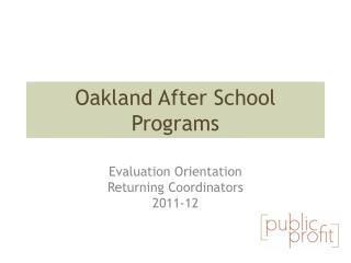 Oakland After School Programs