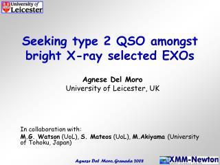 Seeking type 2 QSO amongst bright X-ray selected EXOs